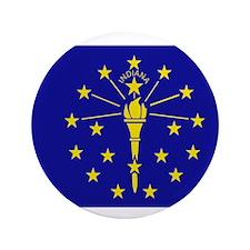 "Beloved Indiana Flag Modern S 3.5"" Button"