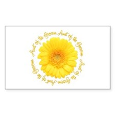 Daisy Aunt of the Groom Rectangle Decal