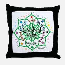 Cerebral Palsy Lotus Throw Pillow