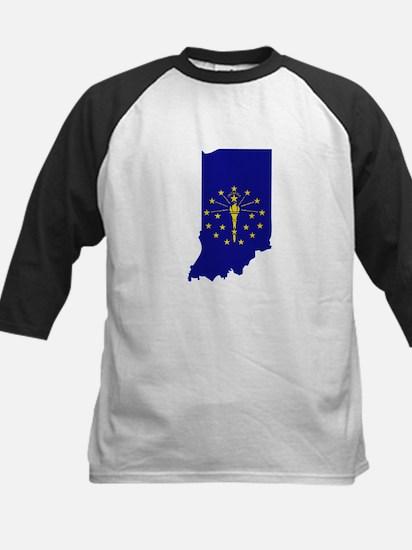 Indiana Stripe Custom Design Kids Baseball Jersey