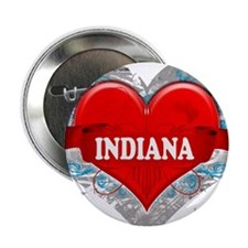 """My Heart Indiana Vector Style 2.25"""" Button"""