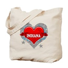 My Heart Indiana Vector Style Tote Bag