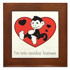 Monkey Business Framed Tile