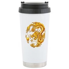 Golden Dragon Travel Coffee Mug
