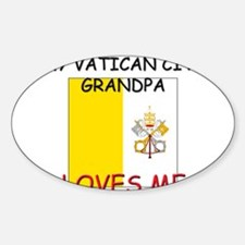 My Vatican City Grandpa Loves Me Oval Decal