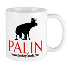 Moose Against Palin Mug