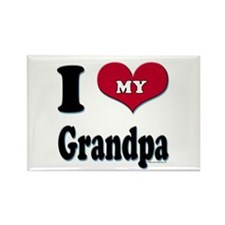 I Love My Grandpa Rectangle Magnet