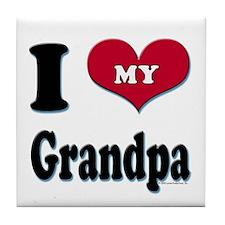 I Love My Grandpa Tile Coaster