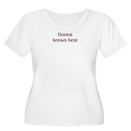 Personalized Donna Women's Plus Size Scoop Neck T-