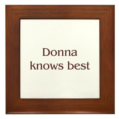 Personalized Donna Framed Tile