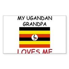 My Ugandan Grandpa Loves Me Rectangle Decal