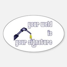 Welder Oval Sticker (10 pk)