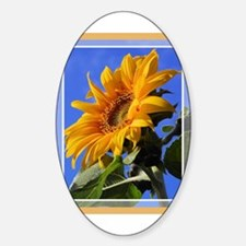 Sunflower 1 Oval Decal