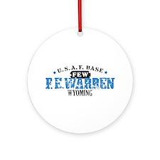F E Warren Air Force Base Ornament (Round)