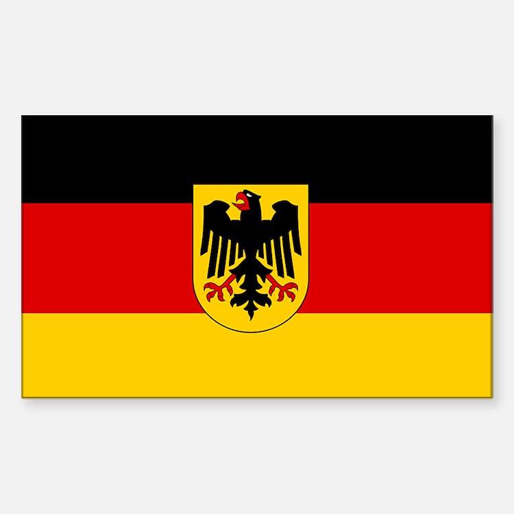 Plain German state flag sticker
