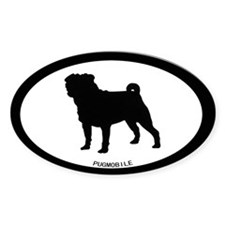 Pugmobile Oval Decal