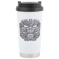 Maori Tattoo-silver Thermos Mug