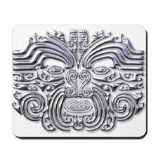 Maori Tattoo-silver Mousepad