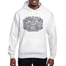 Maori Tattoo-silver Hoodie