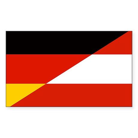 Germany-Austria flags sticker