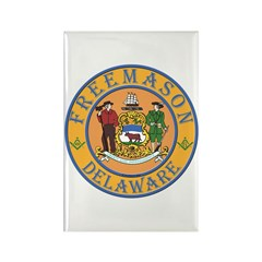 Delaware Masons Rectangle Magnet (100 pack)