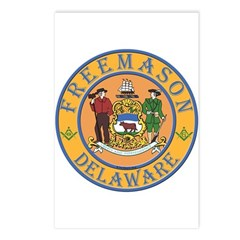 Delaware Masons Postcards (Package of 8)