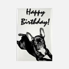 Happy Birthday French bulldog Rectangle Magnet