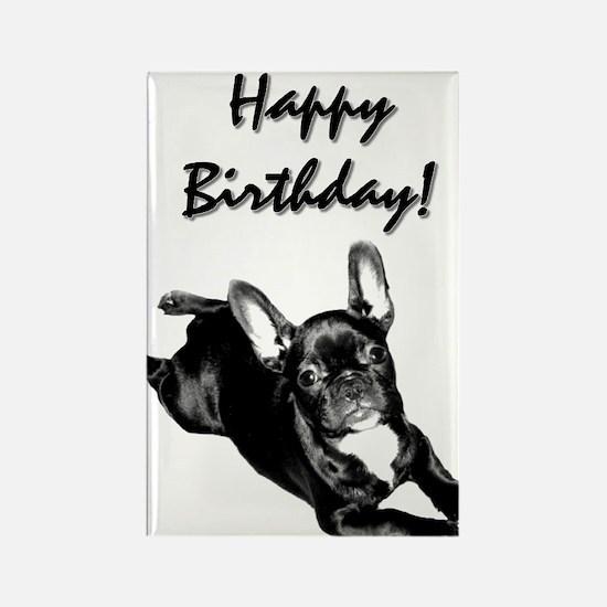 Happy Birthday French bulldog Rectangle Magnet