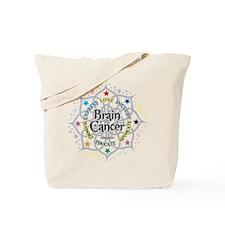 Brain Cancer Lotus Tote Bag