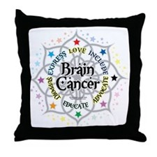 Brain Cancer Lotus Throw Pillow
