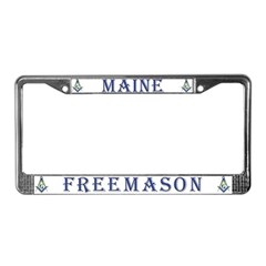 Maine Mason License Plate Frame