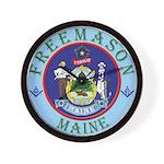 Maine Mason Wall Clock