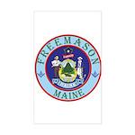 Maine Mason Rectangle Sticker
