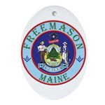 Maine Mason Oval Ornament