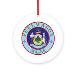 Maine Mason Ornament (Round)