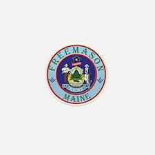 Maine Mason Mini Button
