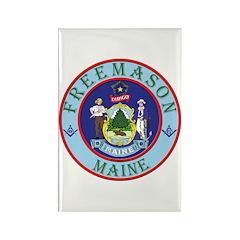 Maine Mason Rectangle Magnet