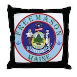 Maine Mason Throw Pillow
