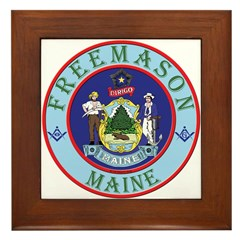 Maine Mason Framed Tile