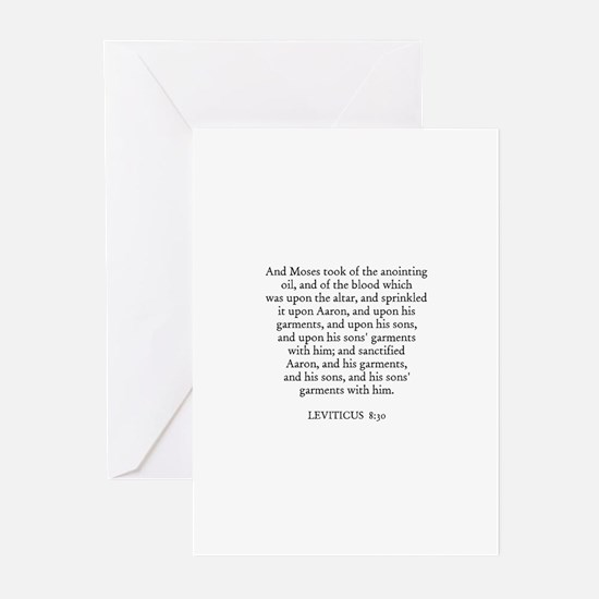 LEVITICUS  8:30 Greeting Cards (Pk of 10)