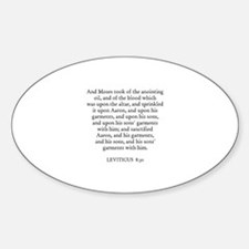 LEVITICUS 8:30 Oval Decal