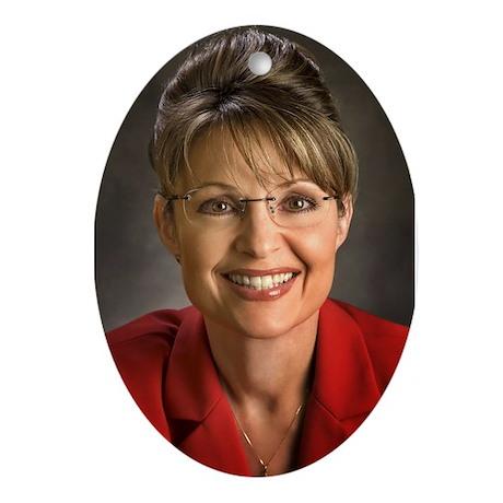 Palin Portrait Oval Ornament
