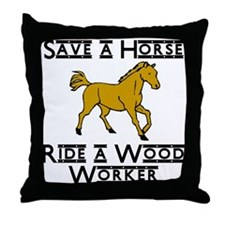 Wood Worker Throw Pillow
