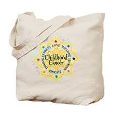 Childhood Cancer Lotus Tote Bag