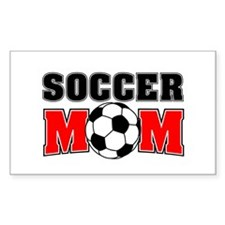 Soccer Mom Rectangle Decal