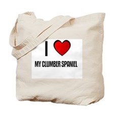 I LOVE MY CLUMBER SPANIEL Tote Bag