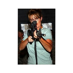 Sarah Taking Aim Rectangle Magnet (100 pack)