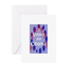 I Voted for Obama Greeting Card