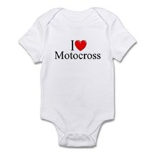"""I Love (Heart) Motocross"" Infant Bodysuit"