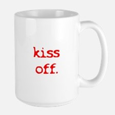 Kiss Off Anti-Valentine's Day Large Mug